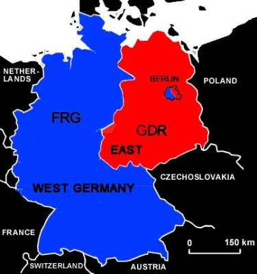 Map Of Germany During Cold War.1946 1991 Cold War Making History Relevant